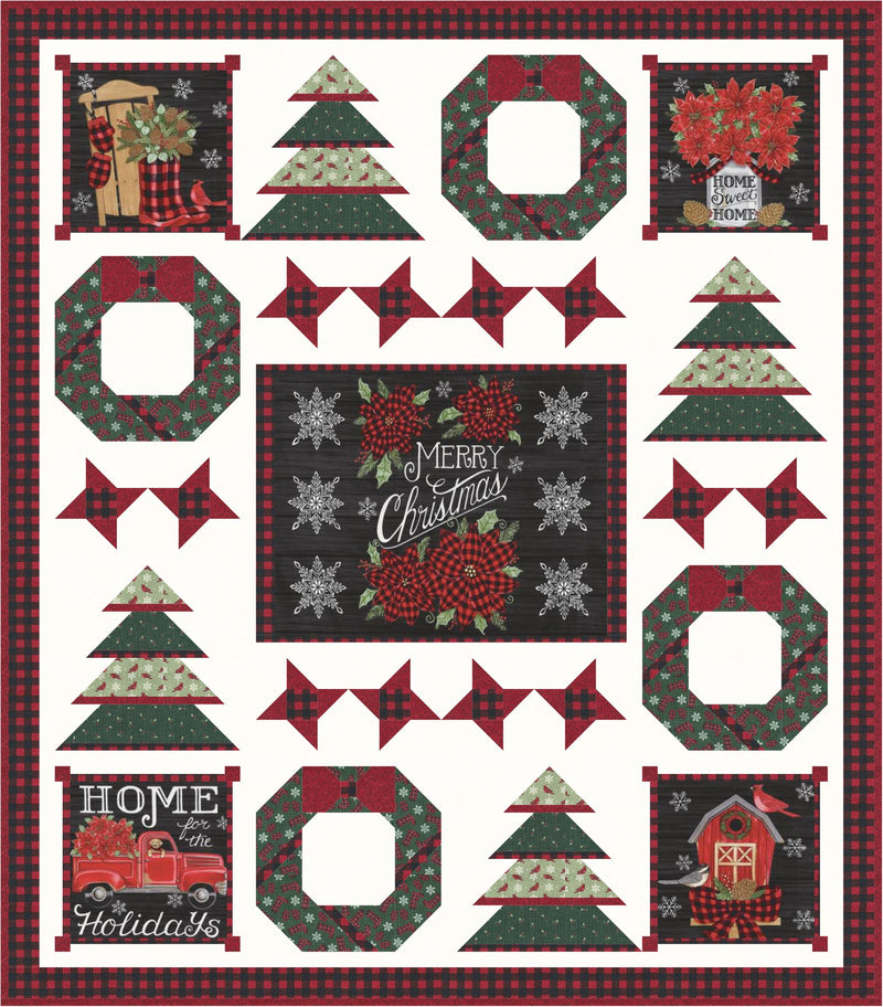 Rustic Christmas Digital Pattern