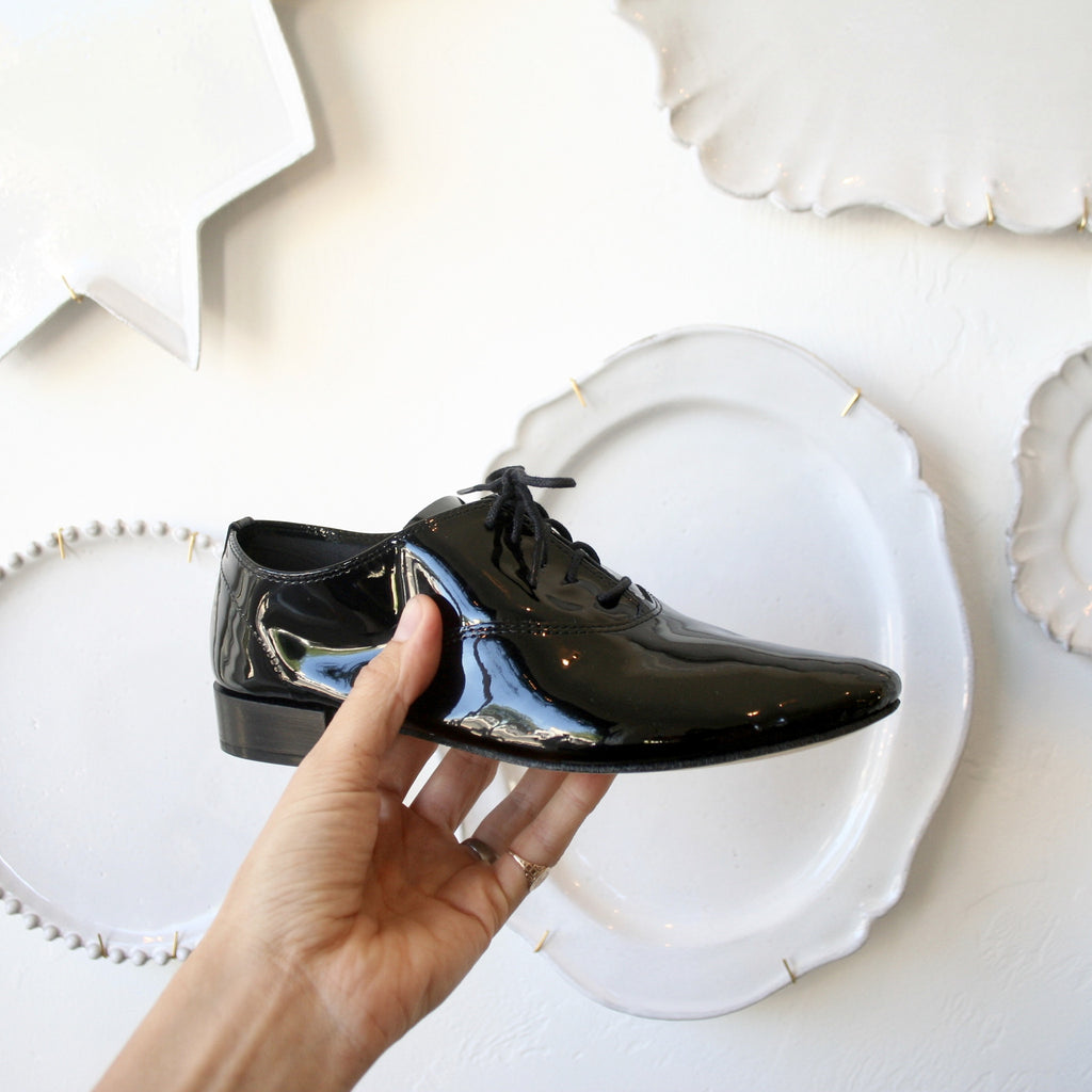 Black Patent Repetto Jazz Shoes