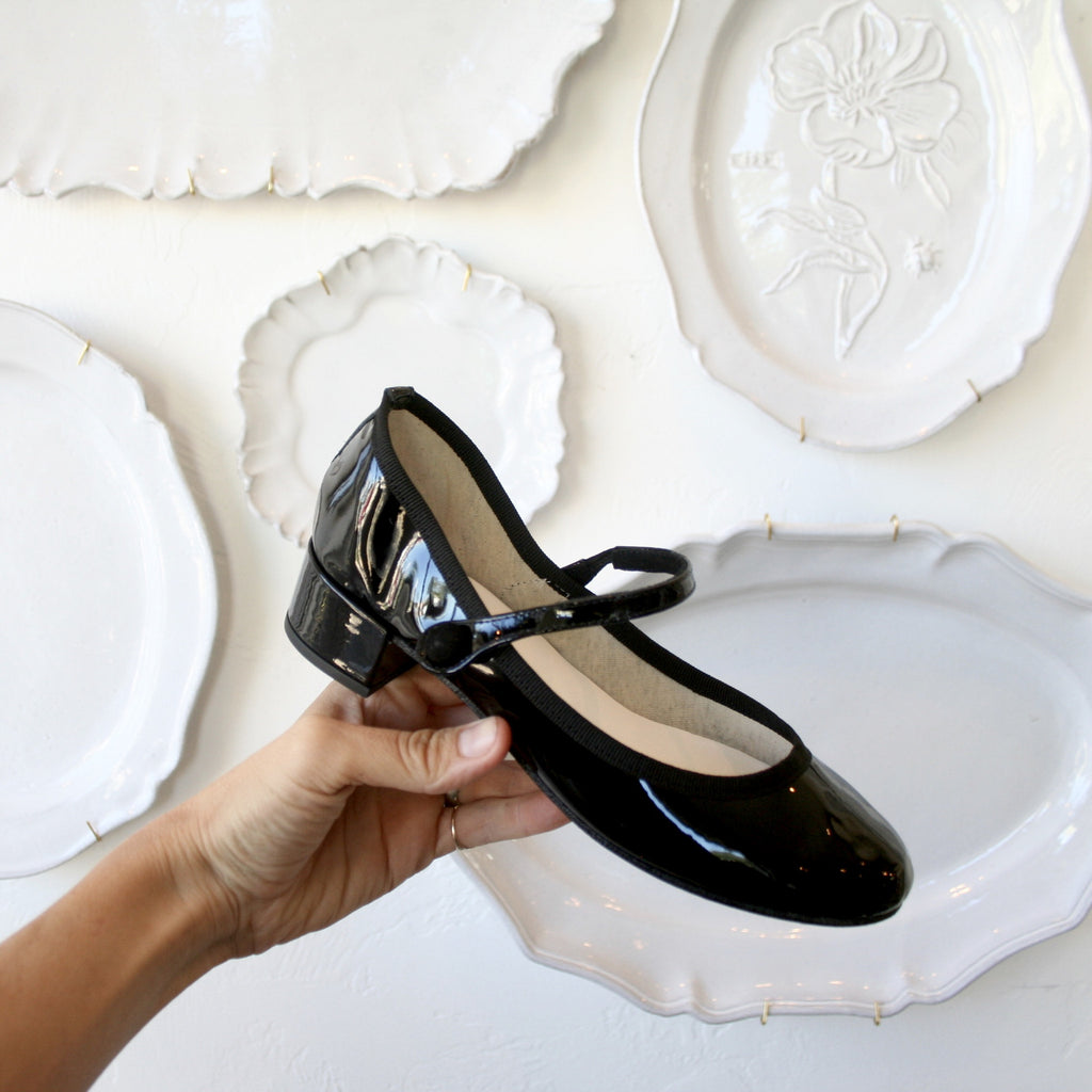 Black Patent Repettos- Mary Janes