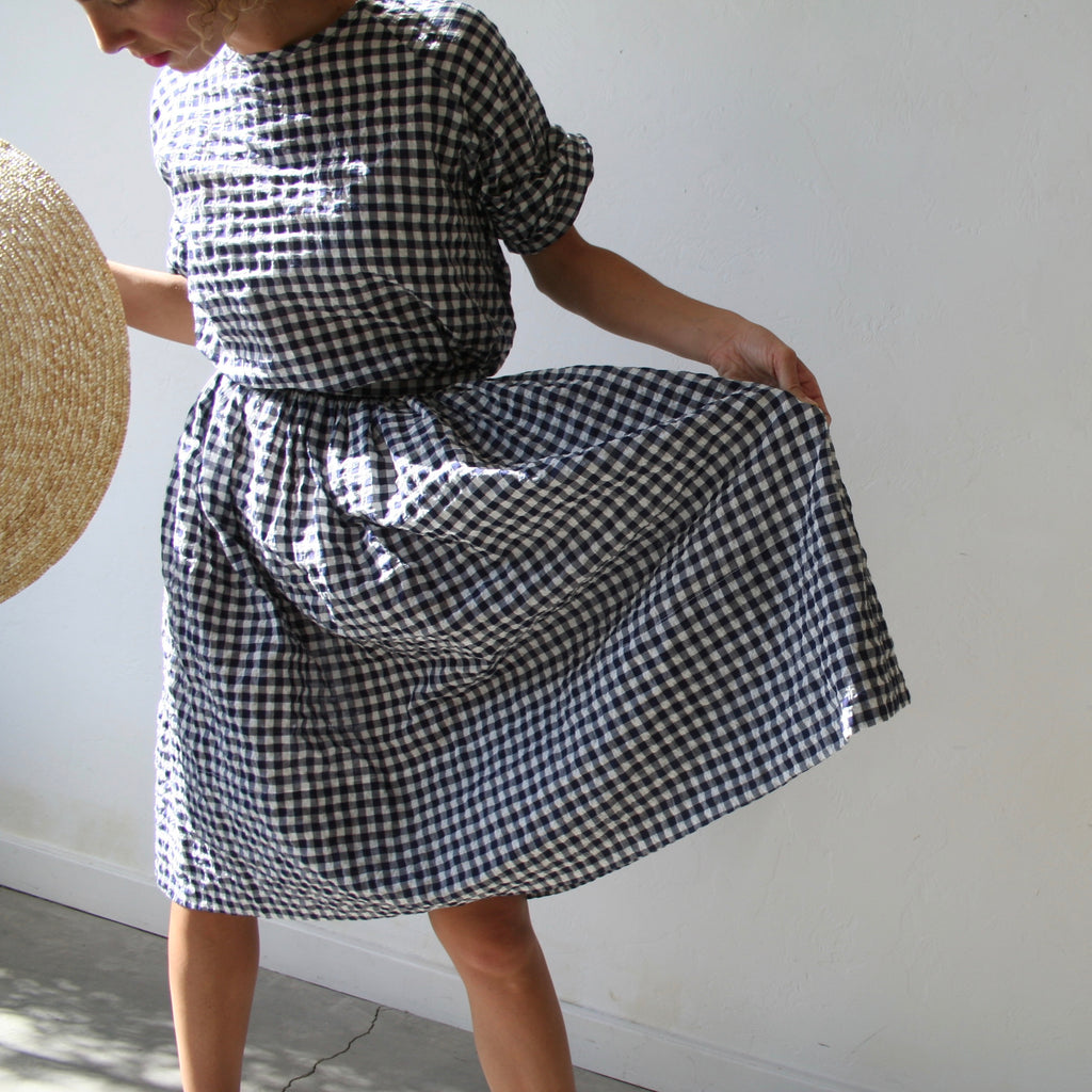 Bon Gathered Skirt- Gingham