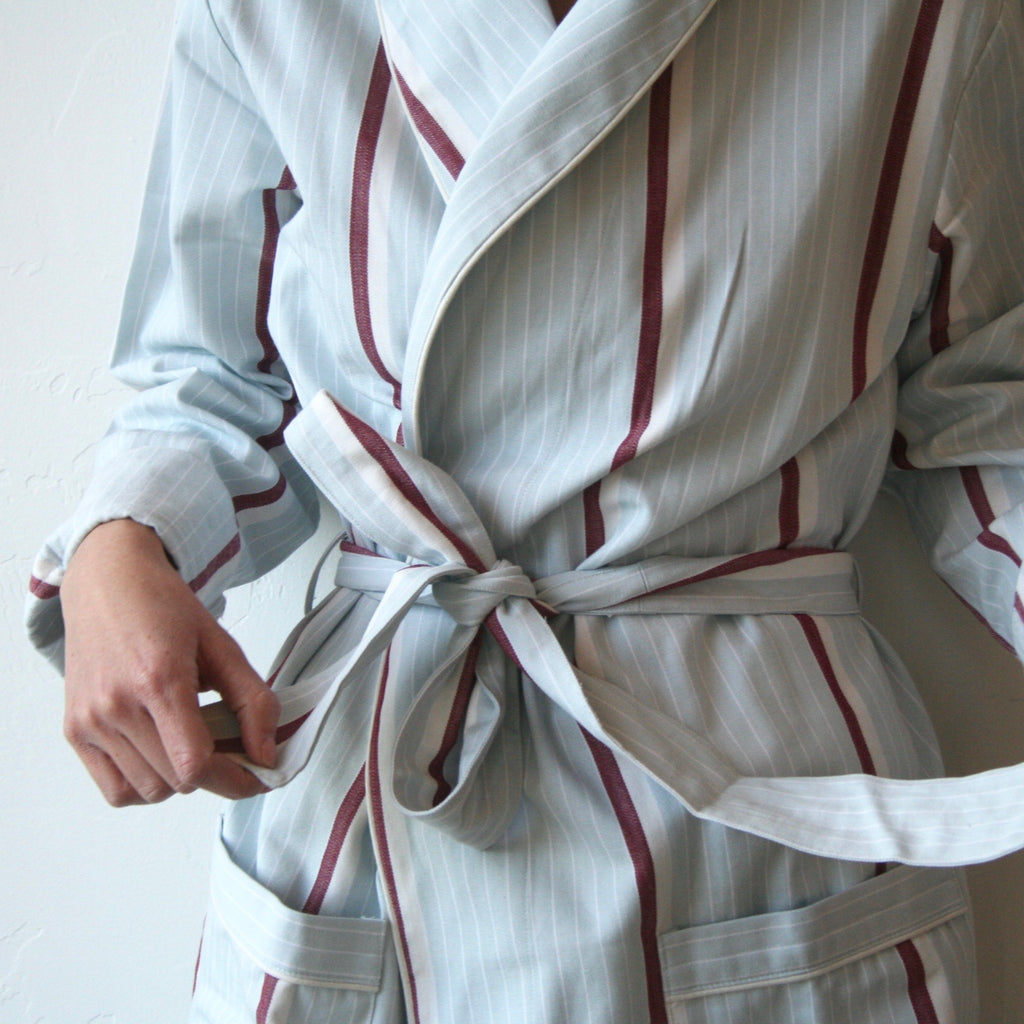 Robe - Ice & Deep Red Stripes
