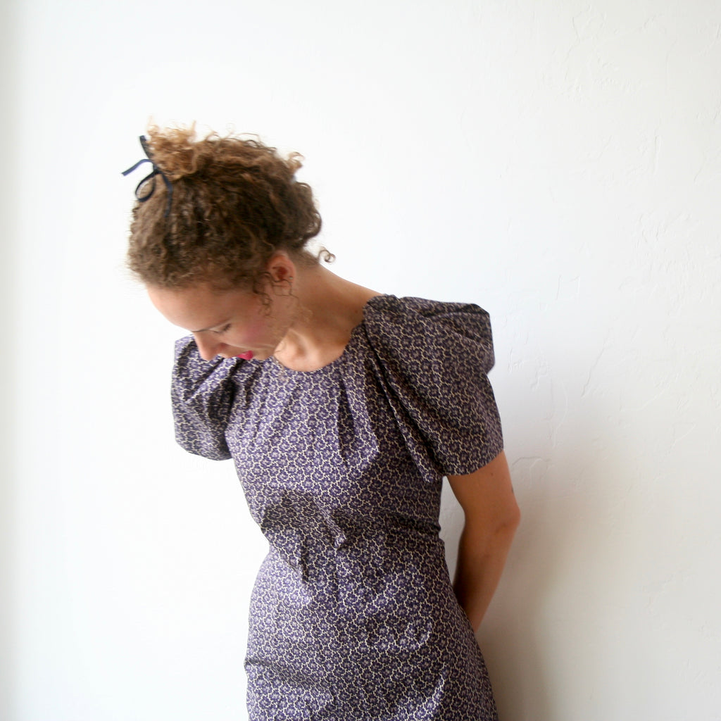 A Détacher Puff Sleeve Dress- Vintage Floral