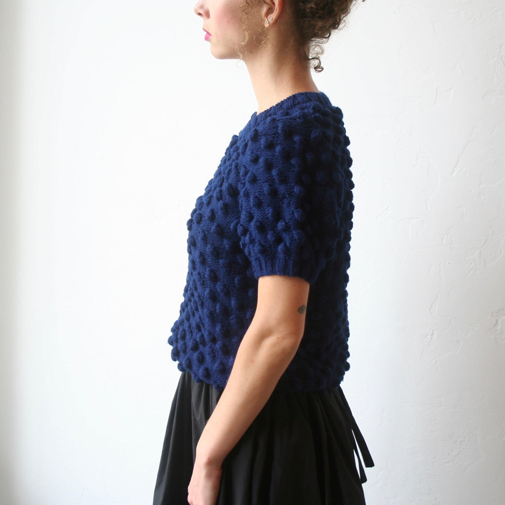 A Détacher Crewneck Puff Sweater