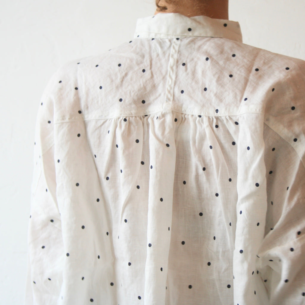 Polkadot Shirt - White With Black Dots
