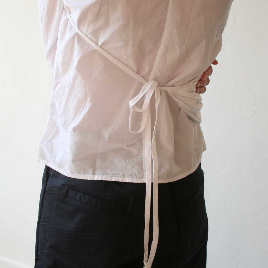 White Cotton Wrap Shirt