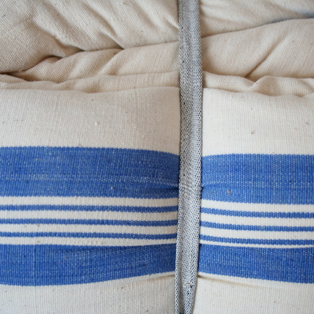Day Bed Cushion - Bright Blue Stripes