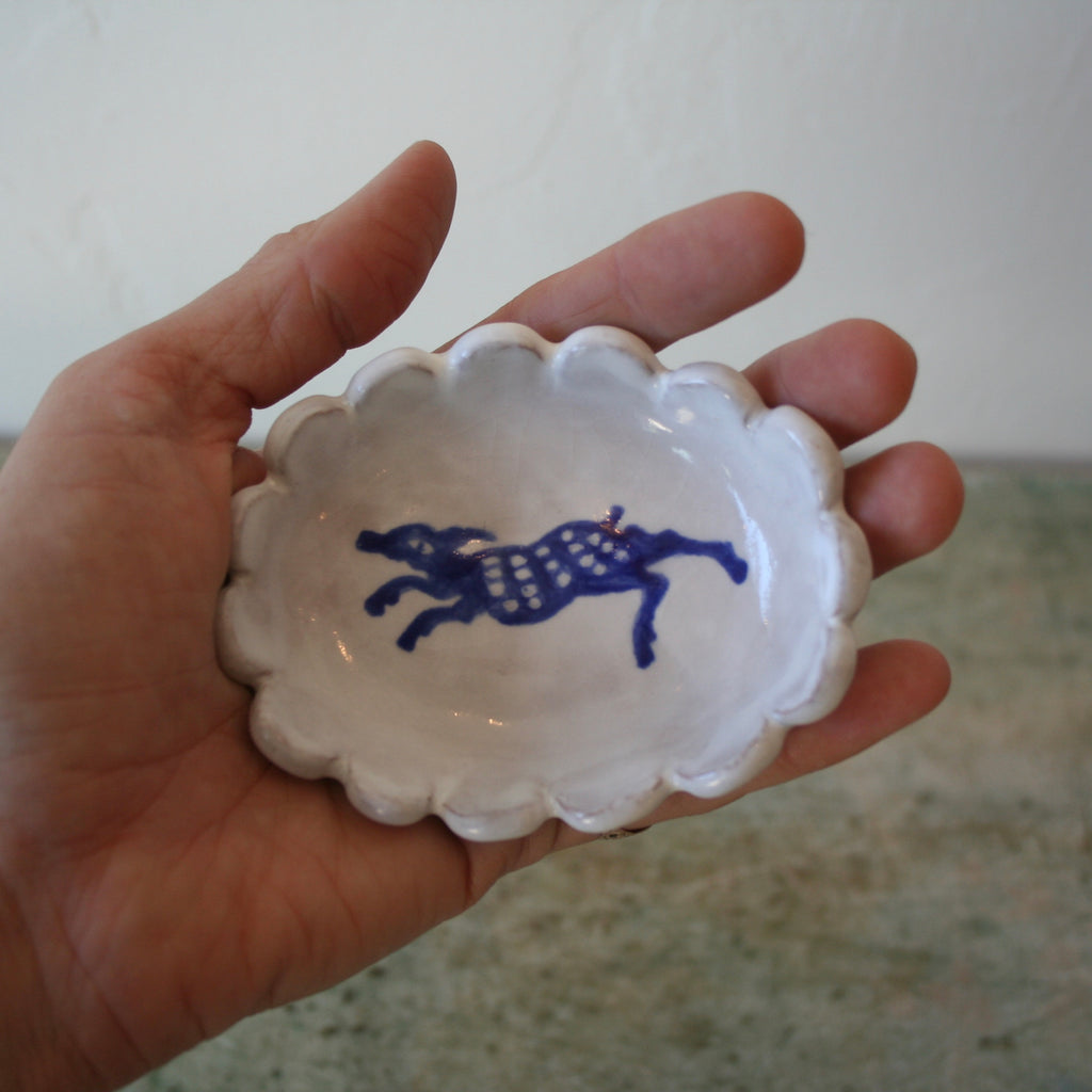 Alix Soubiran Condiment Dishes, Dog
