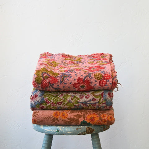 Cotton Floral Throws