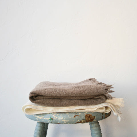 Boiled Wool Throws - Two Colors