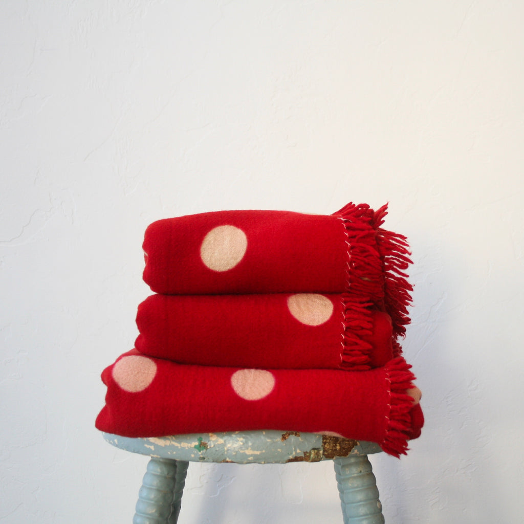 Wool Polkadot Throws