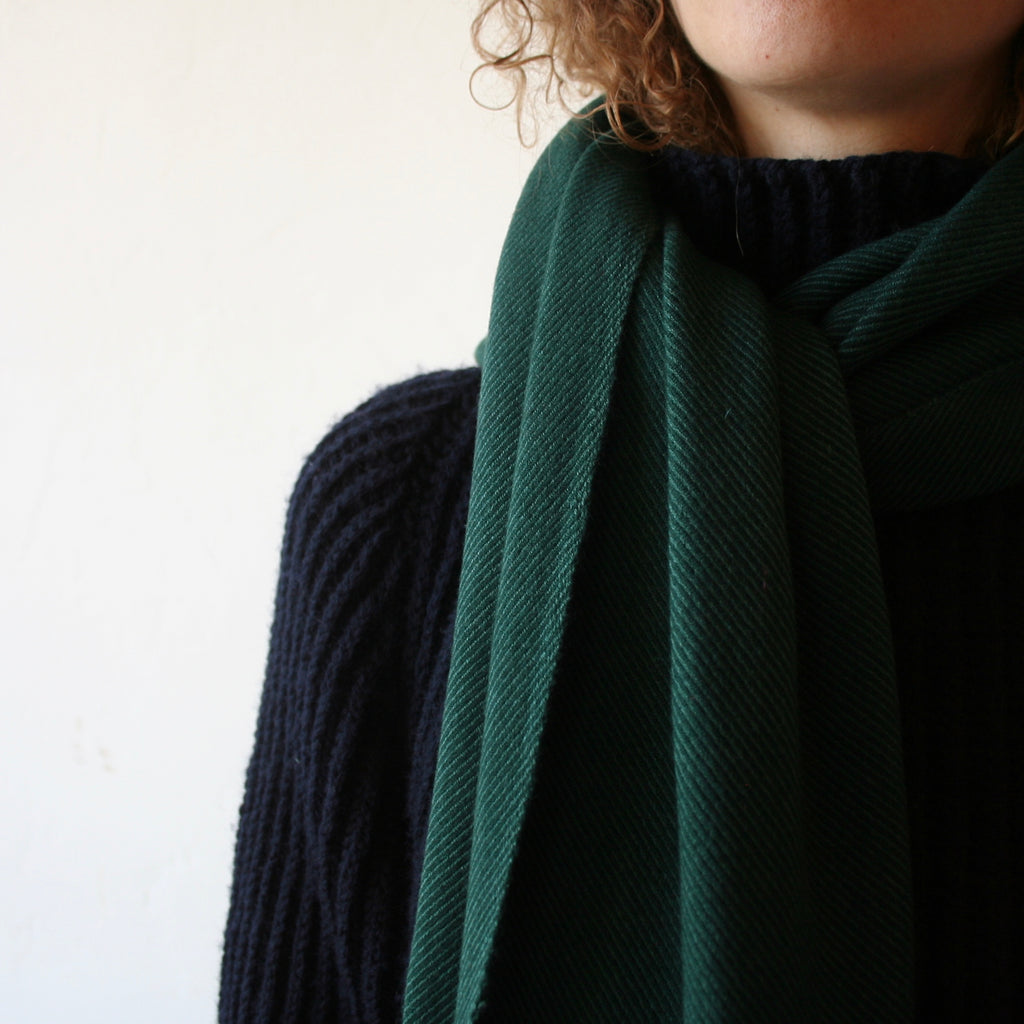 Cashmere/Wool Shawl - Forest Green