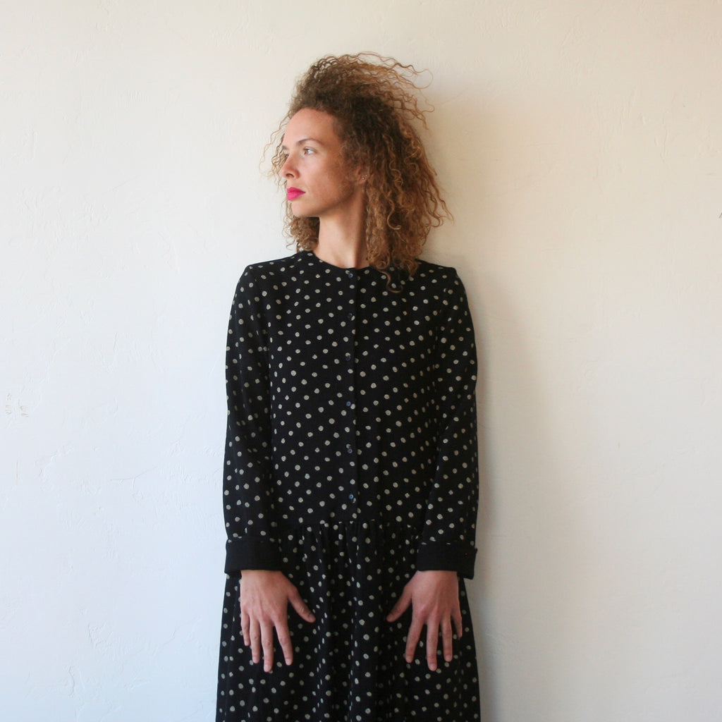 Wool Polkadot Dress