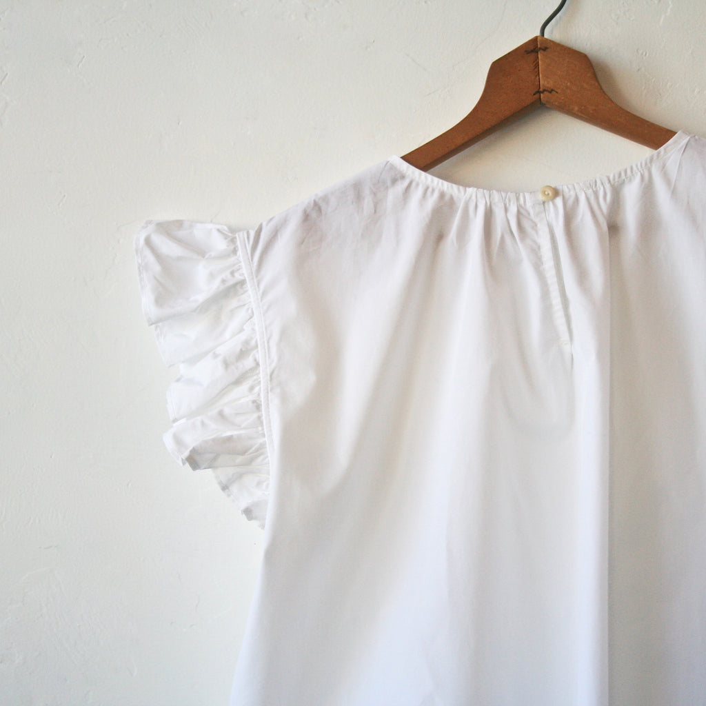 Bon Ruffle Shirt- White