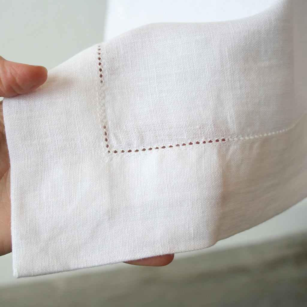 Hemstitch Linen Tablecloths, Rectangular - 3 Sizes