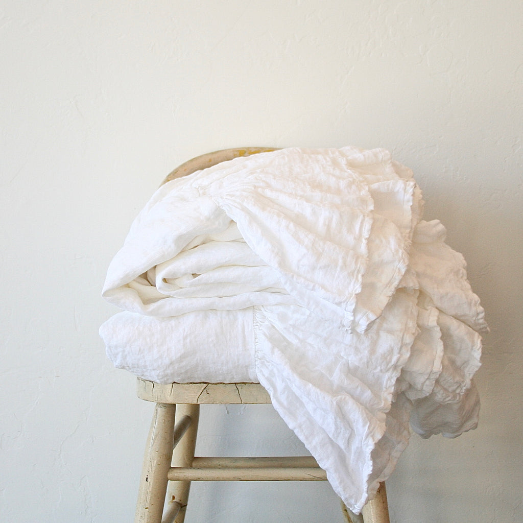 Ruffle Linen Duvet Covers - Two Sizes
