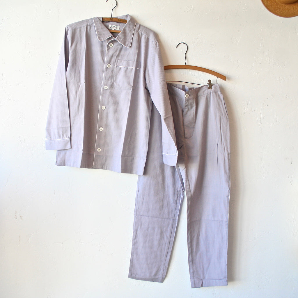P. Le Moult Pajama Set - Lavender with White Piping