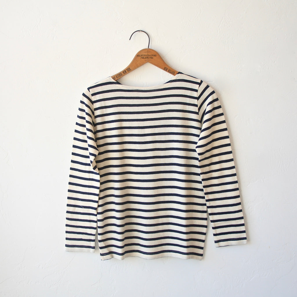 Ichi Antiquités Striped Tee - Cream and Navy