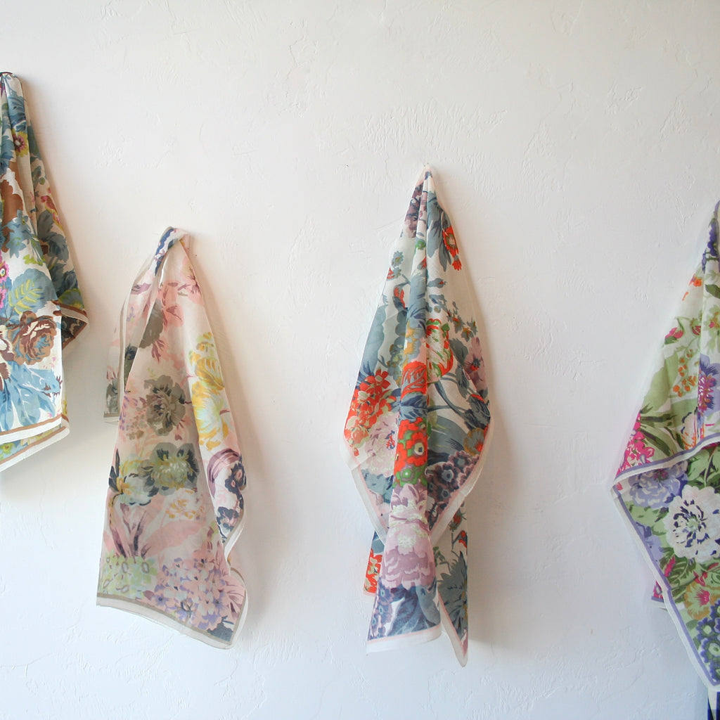 Epice Cotton Floral Scarf - 4 Colors
