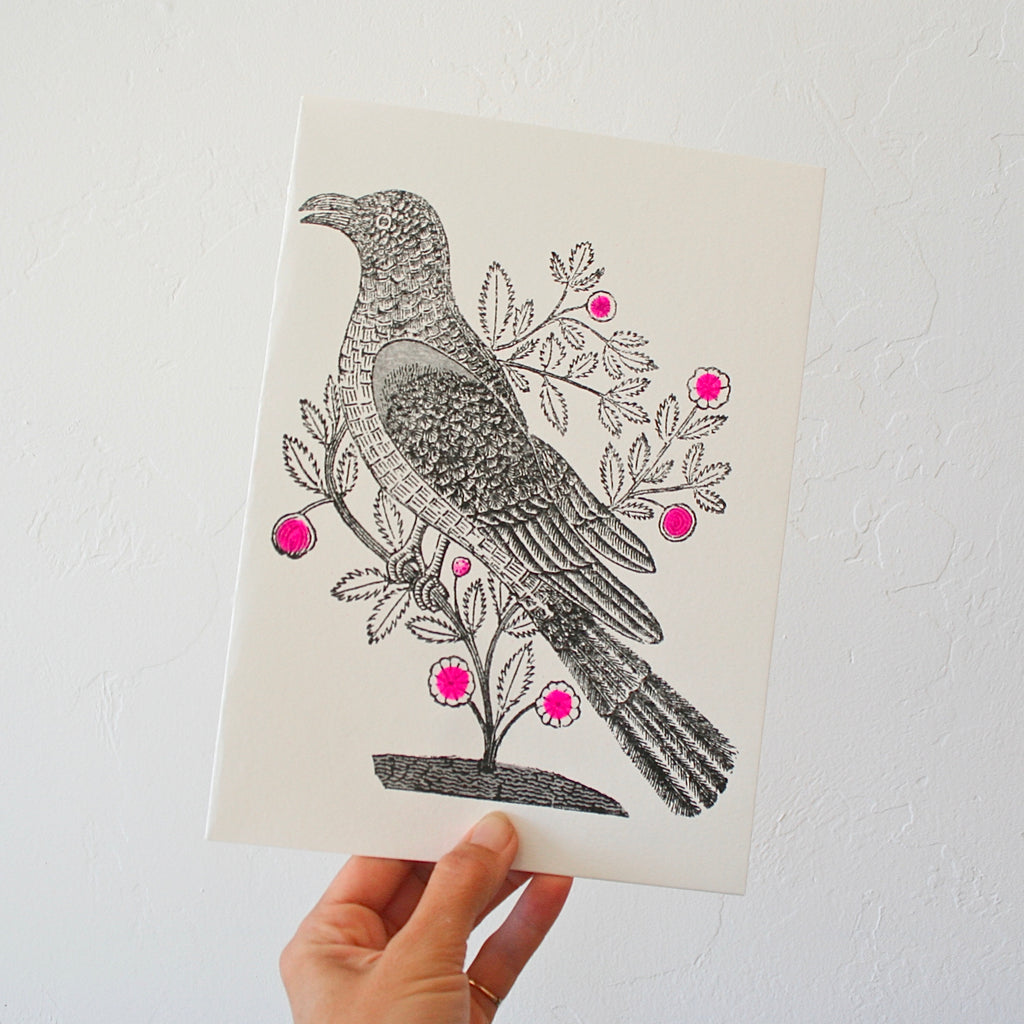 Minnieolga Garden Bird Card