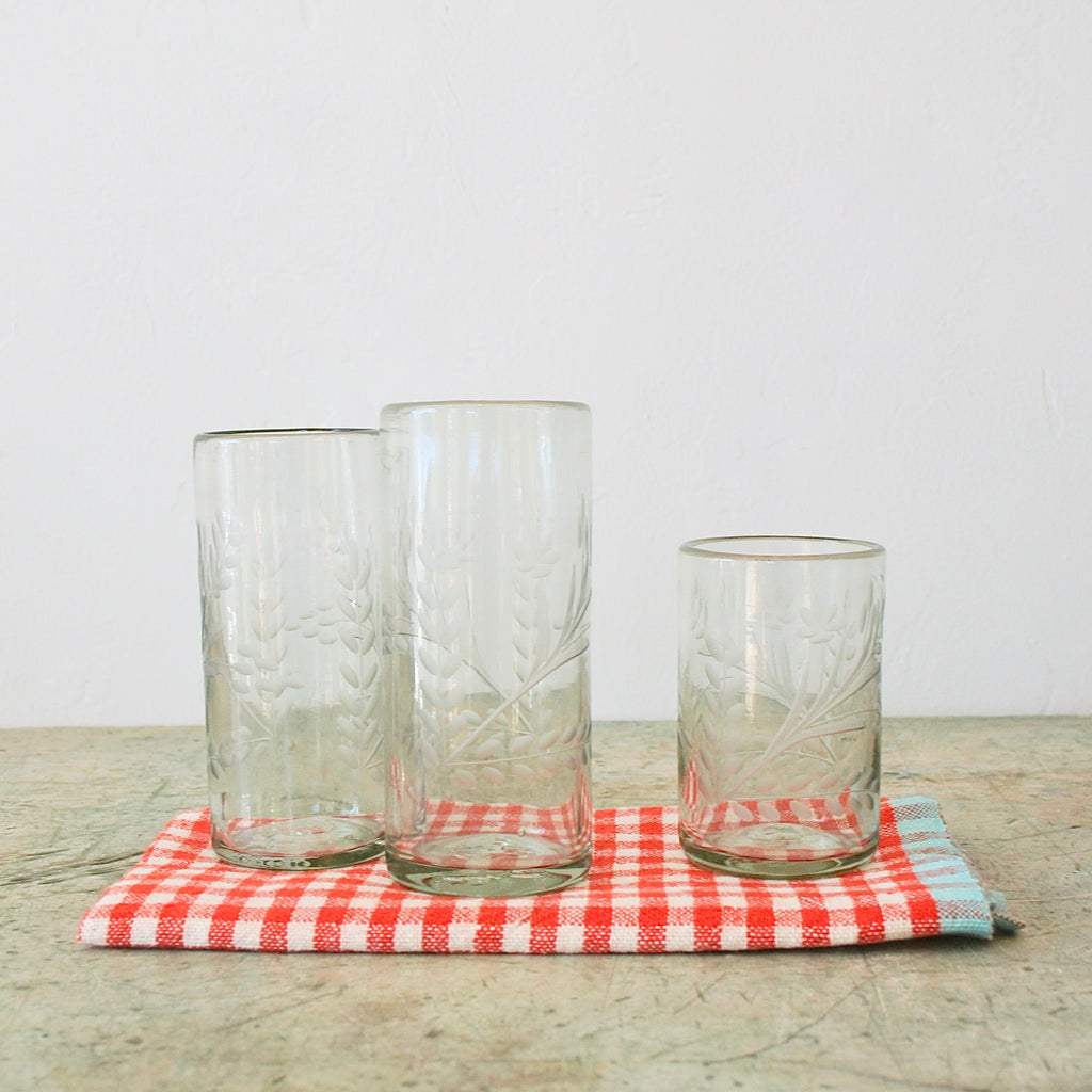 Etched Flower Glasses