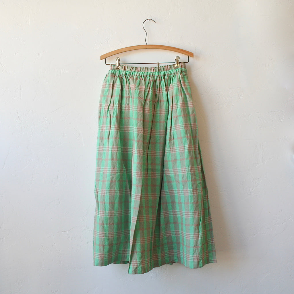 Ichi Antiquités Plaid Skirt