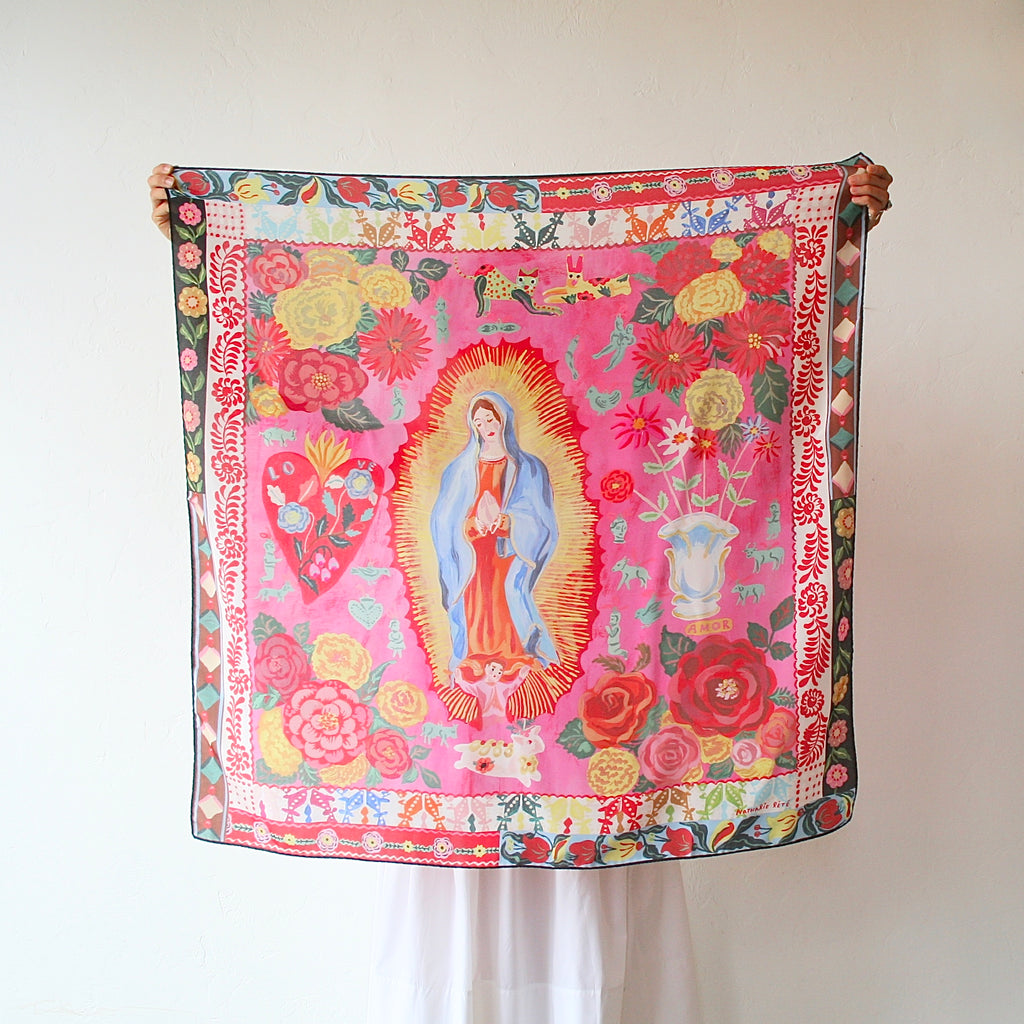 Nathalie Lété Silk Scarf - Lady of Guadalupe
