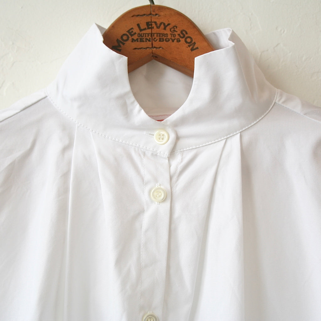 Gallego Desportes Wave Collar Shirt - White Cotton