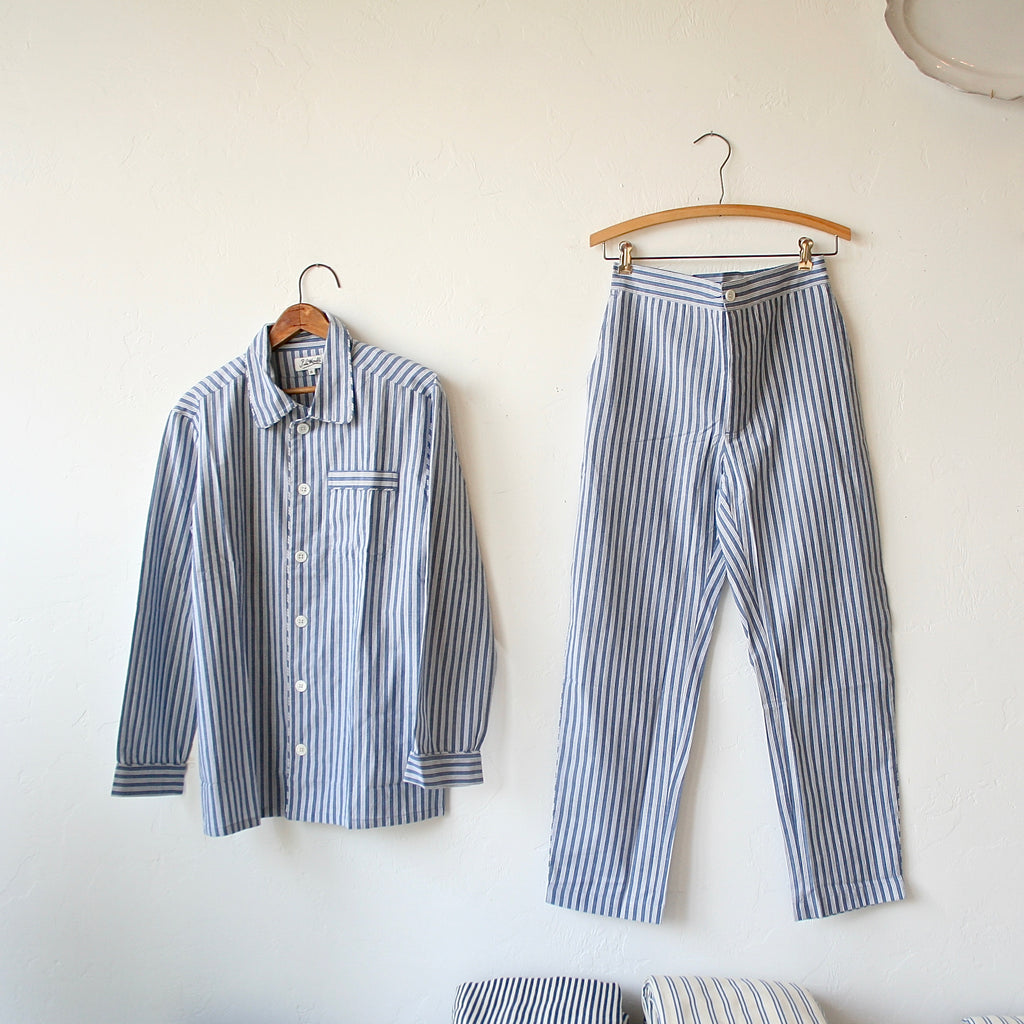 P. Le Moult Pajama Set - Ticking Stripe
