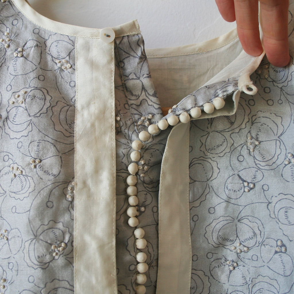 Bunon Hand Embroidered Silk Blouse