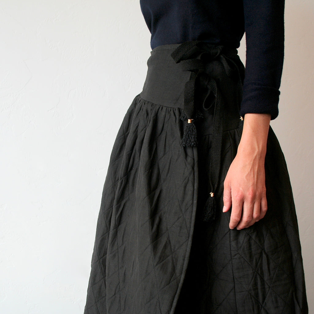 Bunon Quilted Skirt - Black