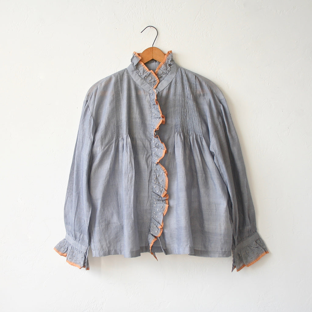 Bunon Cotton/Silk Ruffle Blouse