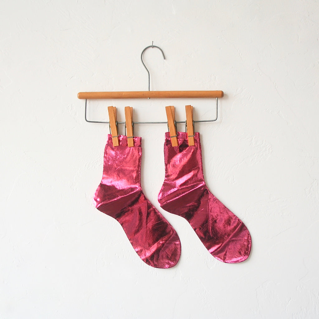 Maria La Rosa Silk Metallic Socks - 8 Colors