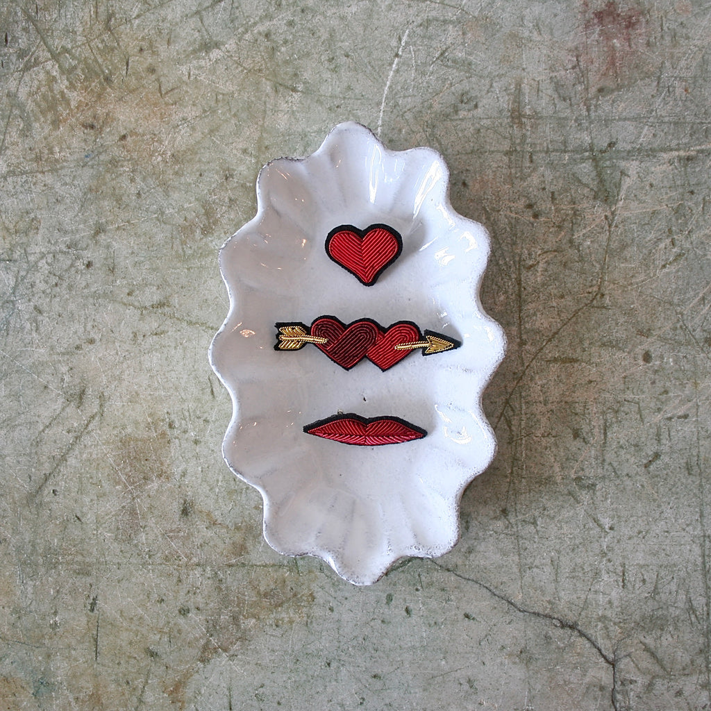 Macon et Lesquoy Hand Embroidered Pins, Love - 3 Styles
