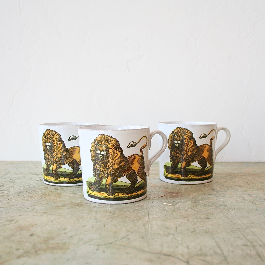 Astier de Villatte and John Derian Cups - Lion