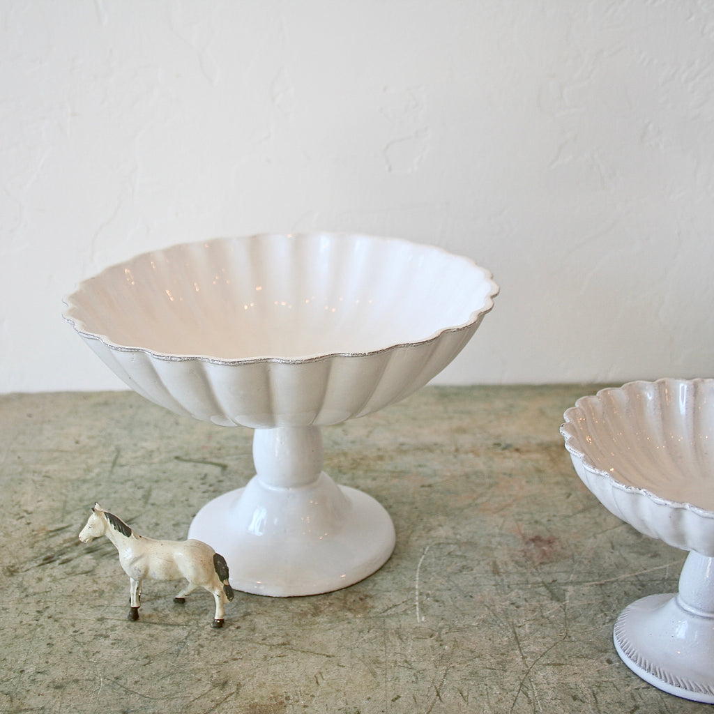 Astier de Villatte Pedestal Bowl - 2 Sizes