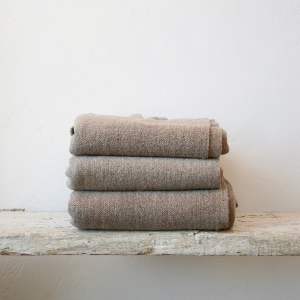Handwoven Wool Throw - Natural