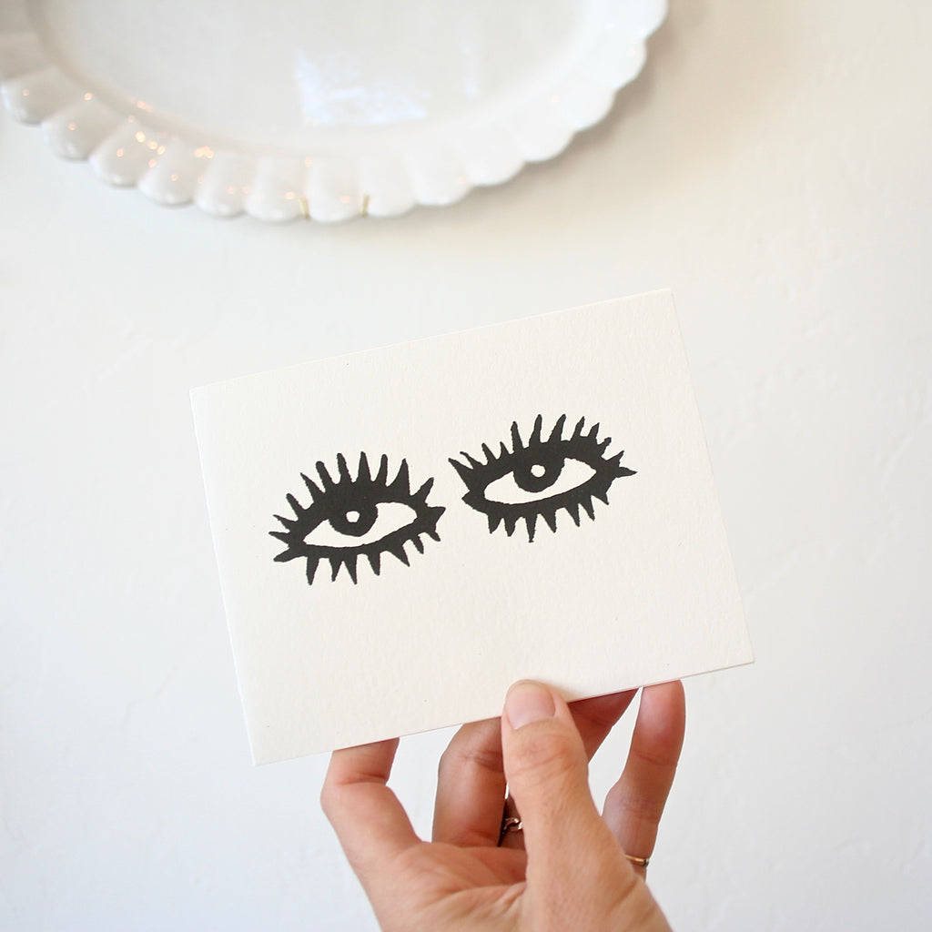 Set of 12 cards - Eyes or Lips