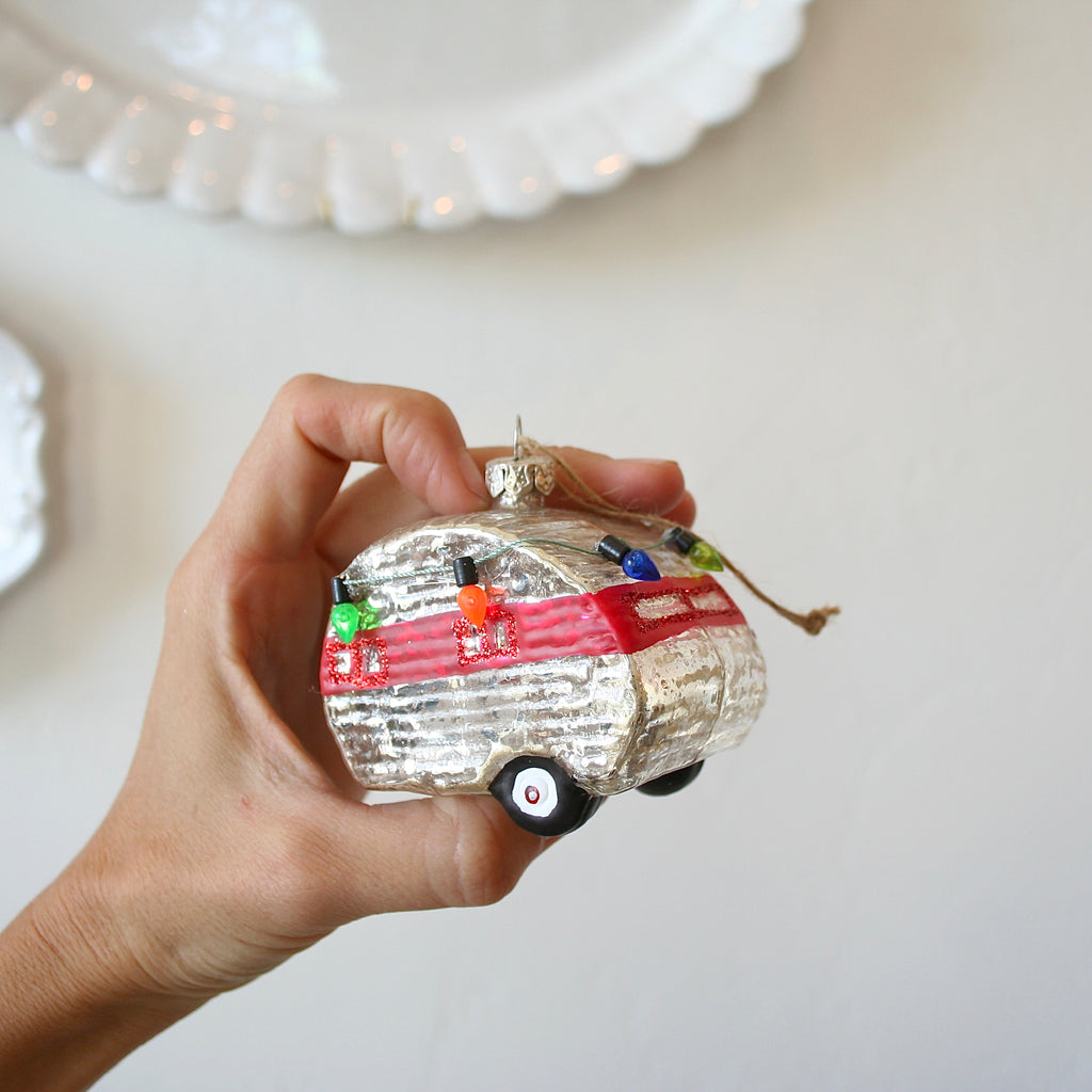 Blown Glass Ornaments - Holiday Volkswagens and Airstream - 8 Options