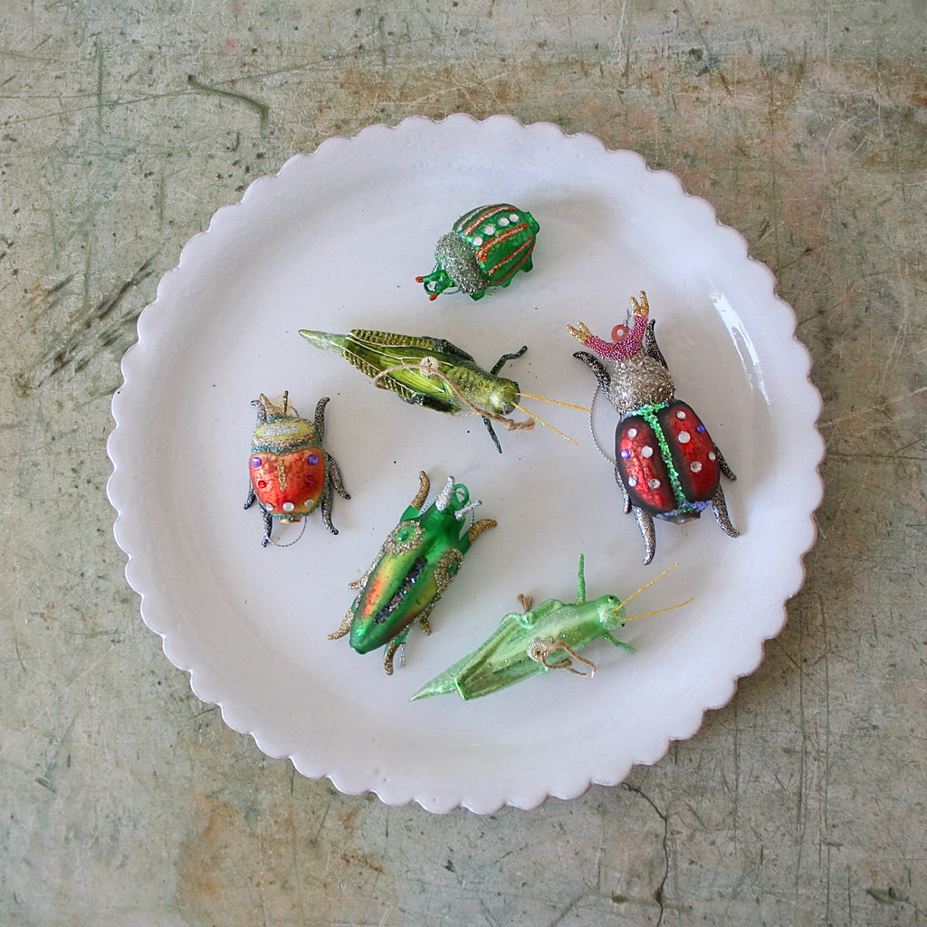 Blown Glass Ornaments - Insects - 6 Options