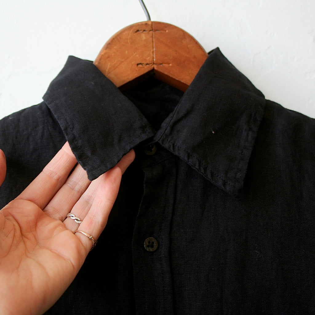Pip Squeak Chapeau Long Boy Shirt - Midnight Linen
