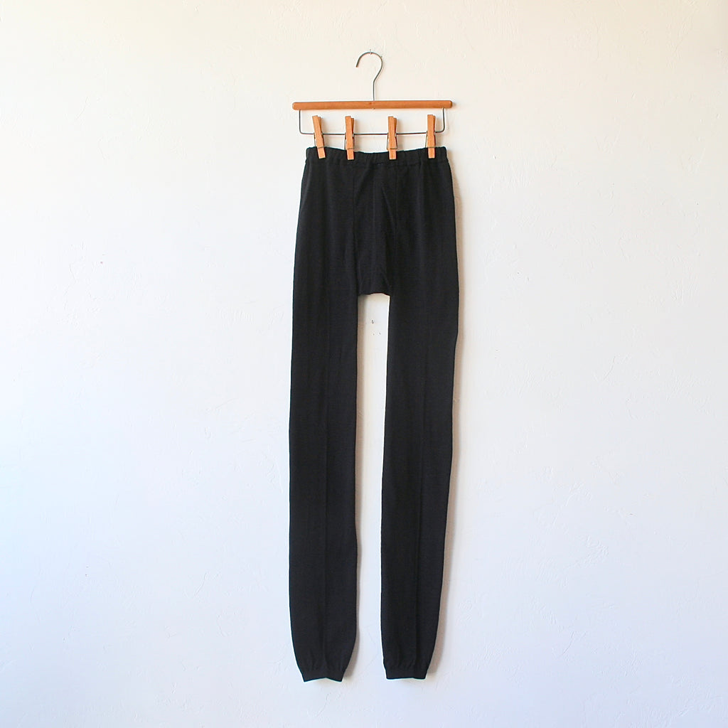 Fog Linen Wool Leggings - Charcoal