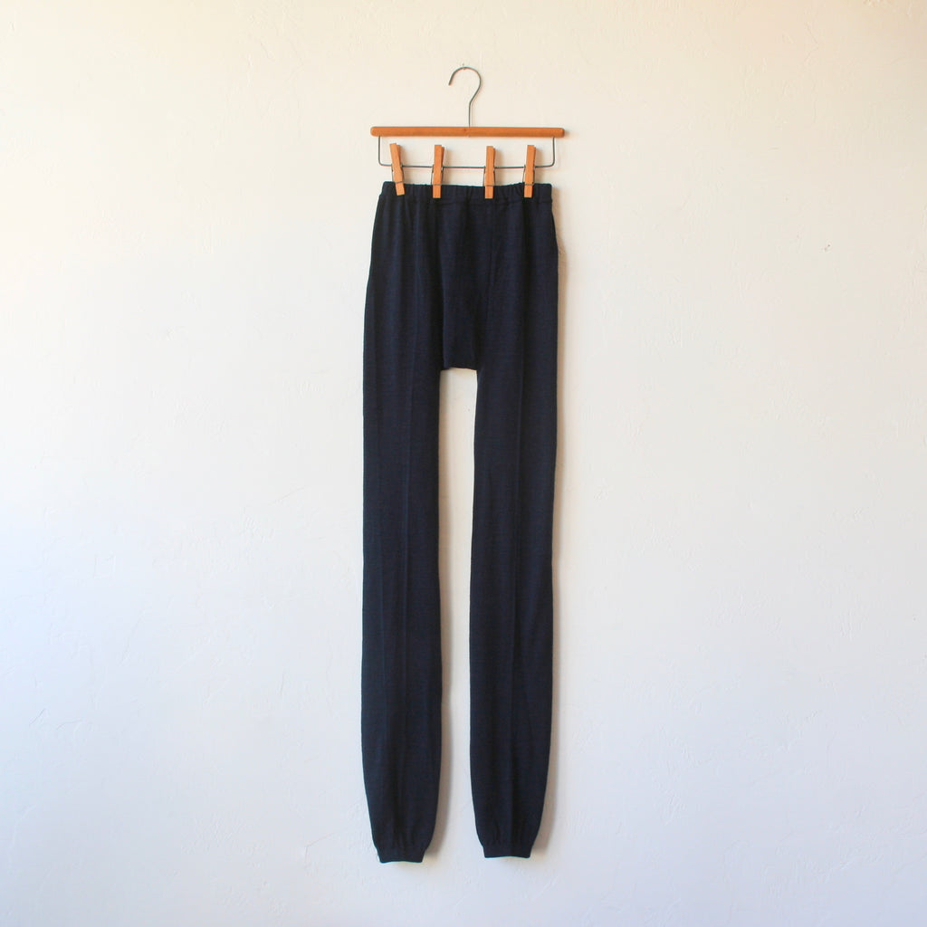 Fog Linen Wool Leggings - Navy