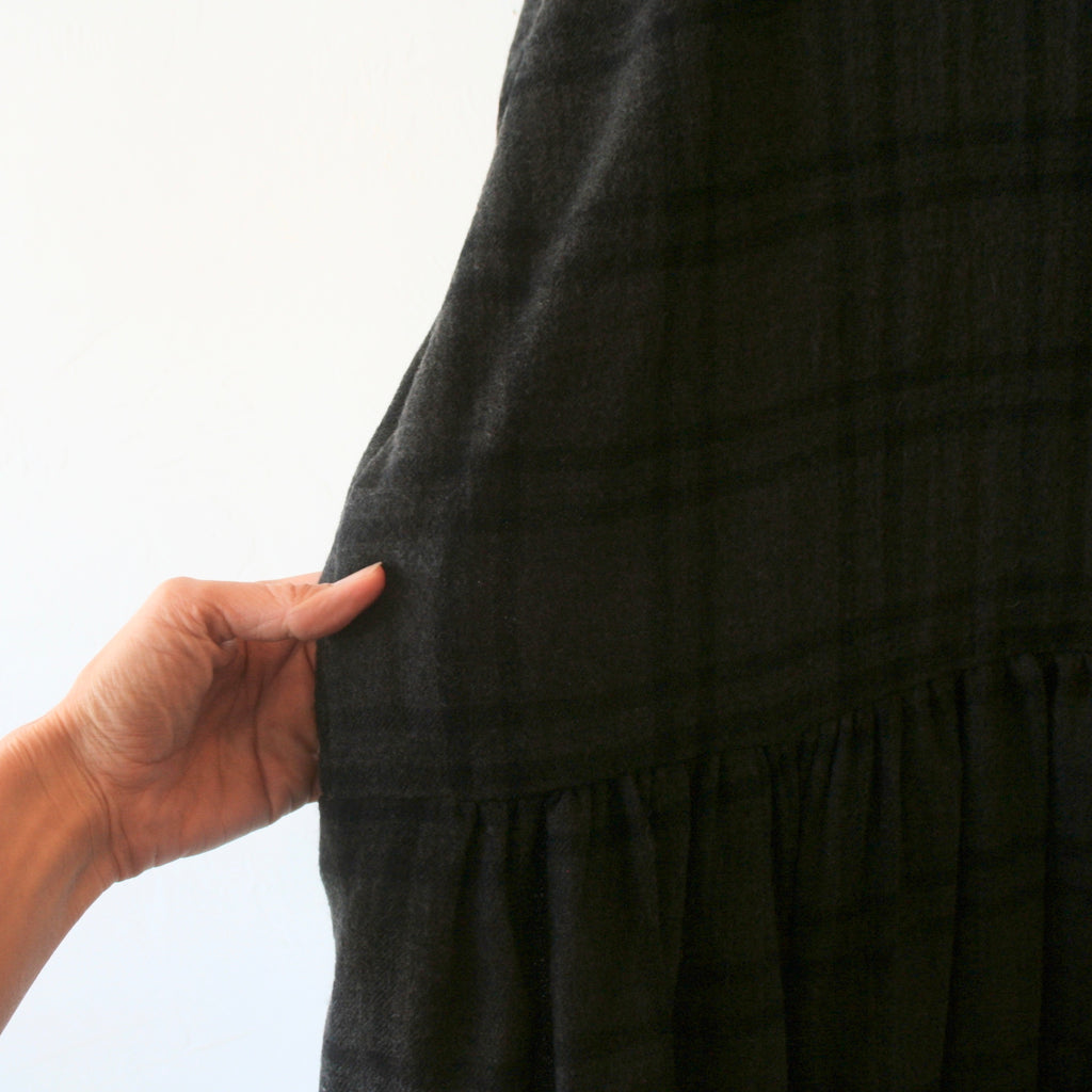 Apuntob Wool Plaid Dress