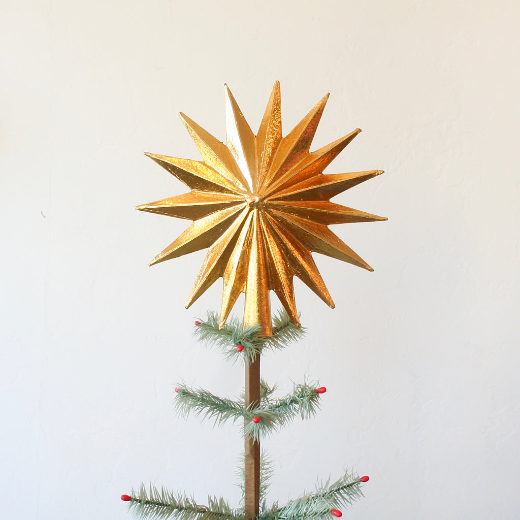 Tree Topper - 15 Point Star - Gold