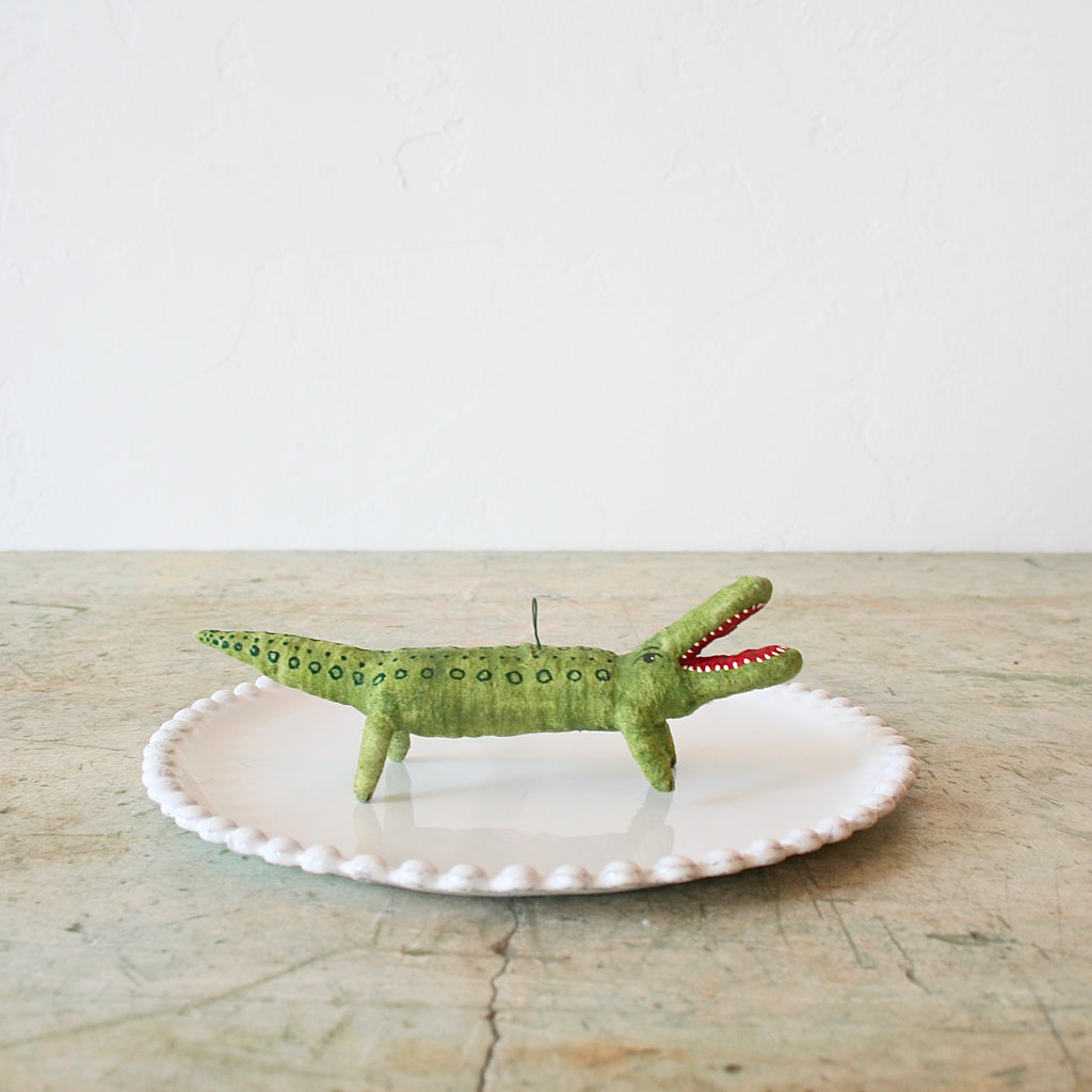Vintage by Crystal Alligator Figure