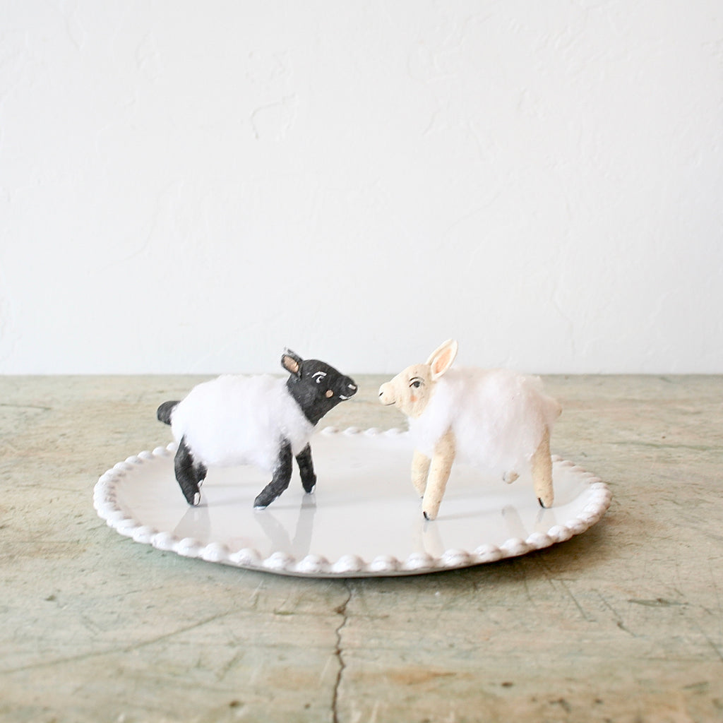 Vintage by Crystal Sheep Figures