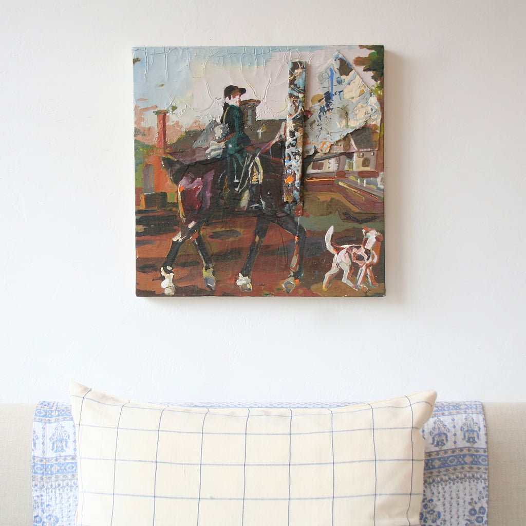 """Stubbs Horseman"" Painting by Graham Mears"