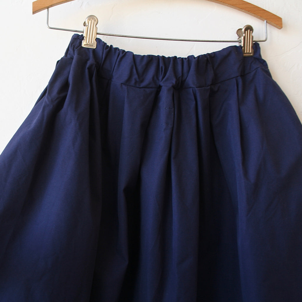 Gallego Desportes Elastic Waist & Pleated Skirt - Navy Blue