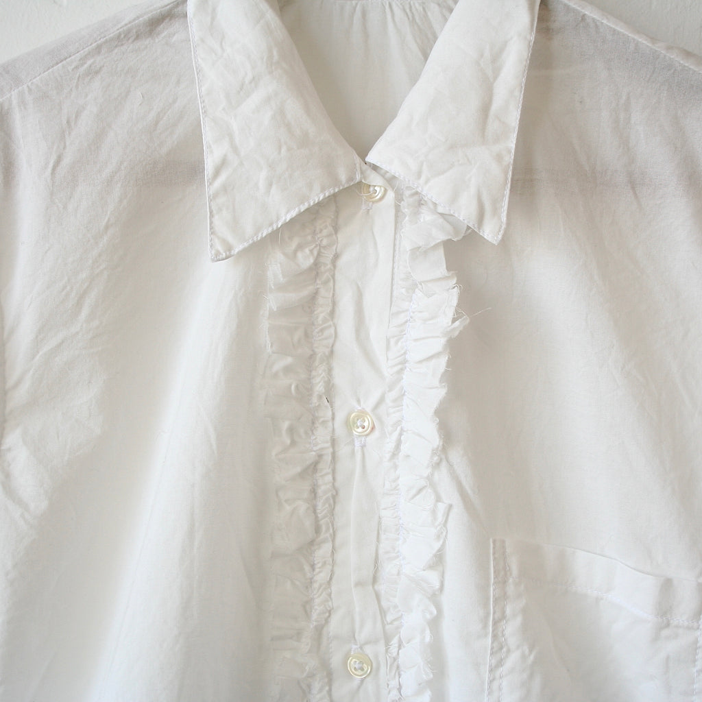 Hazel Brown Blouse with Ruffles
