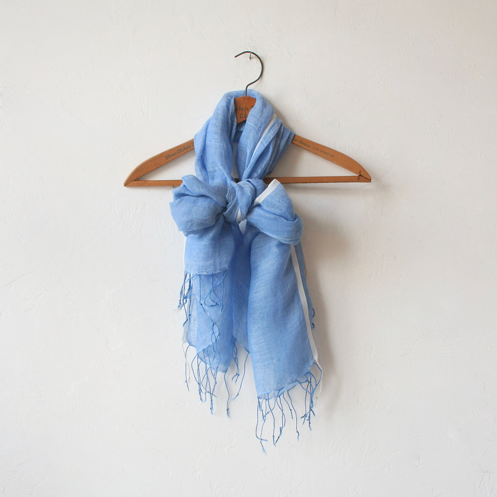 Epice Linen Scarf - Forget Me Not